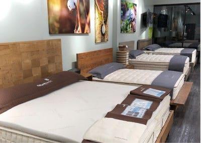 mattresses inside organic mattress gallery near Washington DC