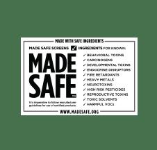 Made Safe Logo Certification - made with safe ingredients