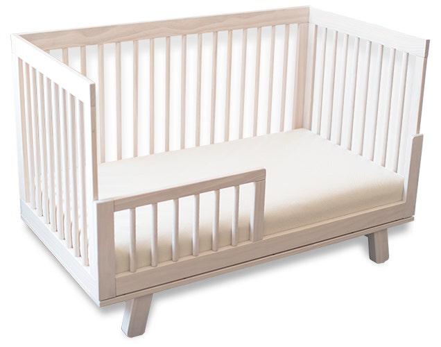 Breathable crib mattress in crib