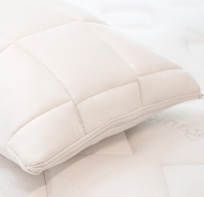 Organic Kids Pillow on Mattress