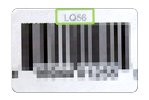 Barcode highlighting where to find the item SKU